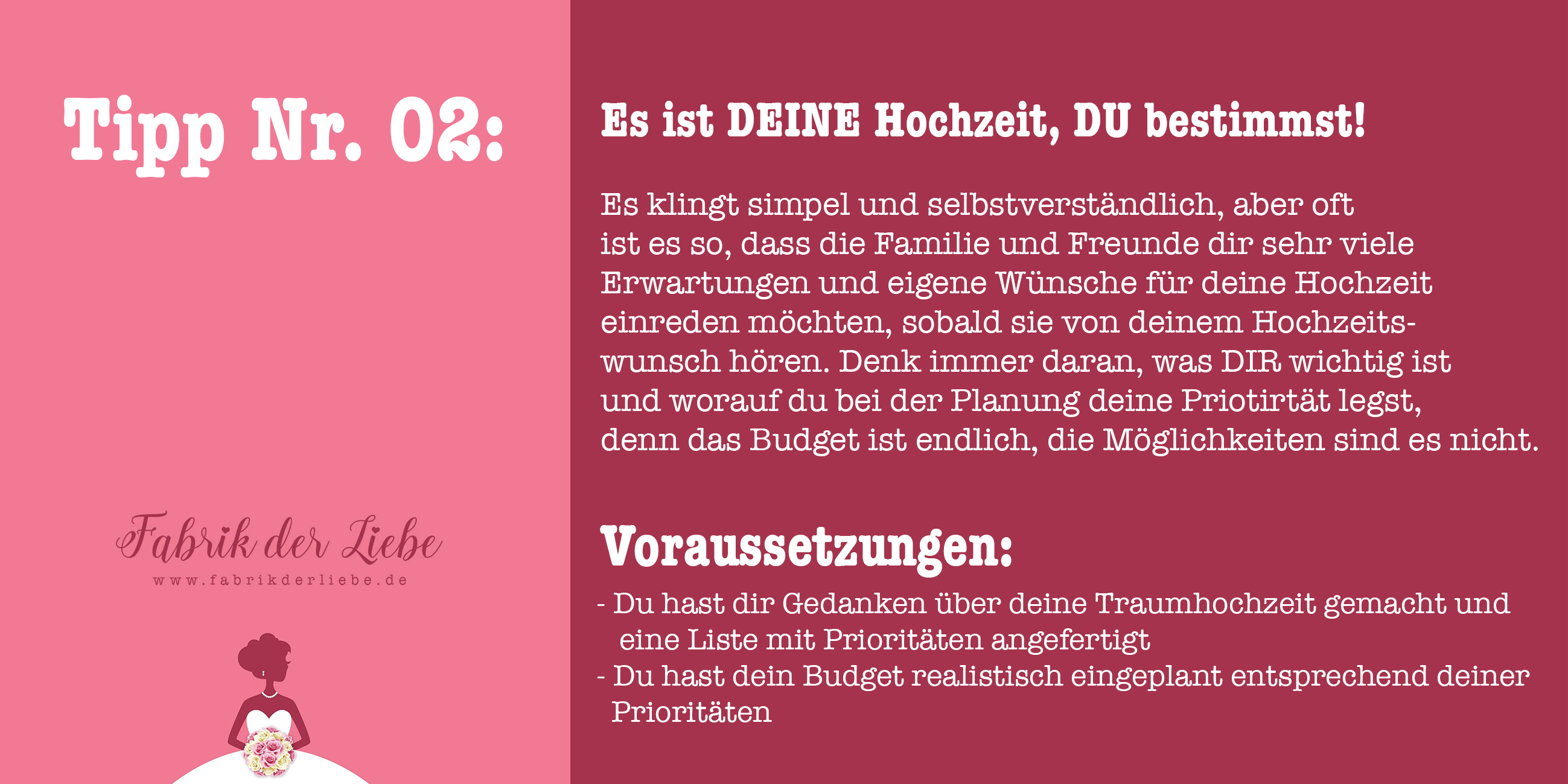 Fabrik Der Liebe Tipp Nr 2 Du Entscheidest Was Auf Deiner